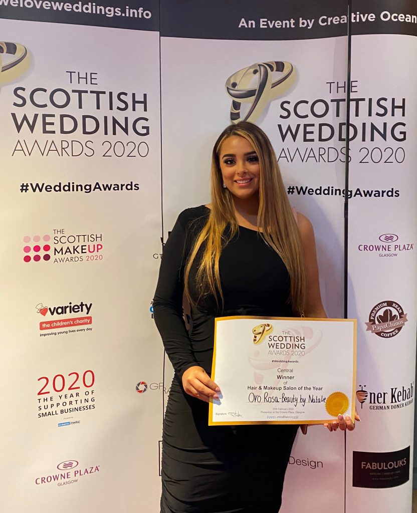 Oban beauty Salon, Oro Rosa, was a winner at the Scottish Wedding Awards.